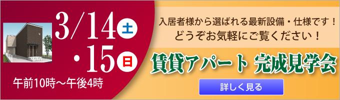 賃貸アパート 完成見学会